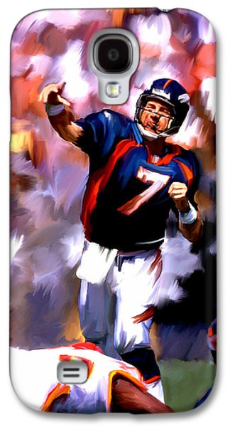 Street Drawings Galaxy S4 Cases - The Gun III John Elway Galaxy S4 Case by Iconic Images Art Gallery David Pucciarelli