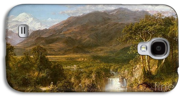 The Haunted House Galaxy S4 Cases - The Heart of the Andes Galaxy S4 Case by Frederick Edwin Church