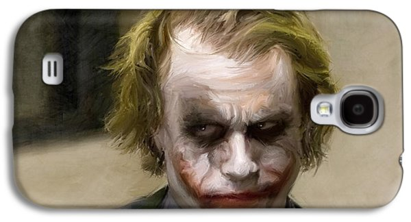 Joker Dark Knight Heath Ledger Movie Actor Galaxy S4 Cases - The Joker Galaxy S4 Case by Paul Tagliamonte