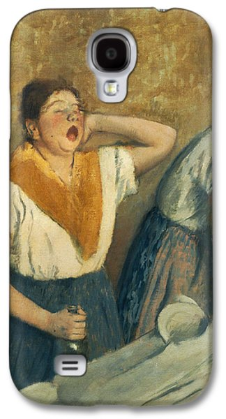 Laundry Paintings Galaxy S4 Cases - The Laundresses Galaxy S4 Case by Edgar Degas
