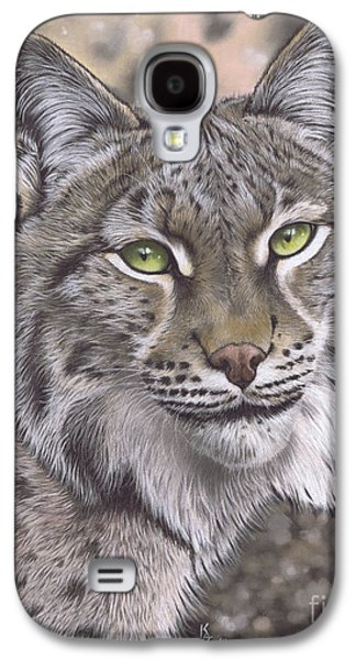 Bobcats Pastels Galaxy S4 Cases - The Lynx Effect Galaxy S4 Case by Karie-Ann Cooper