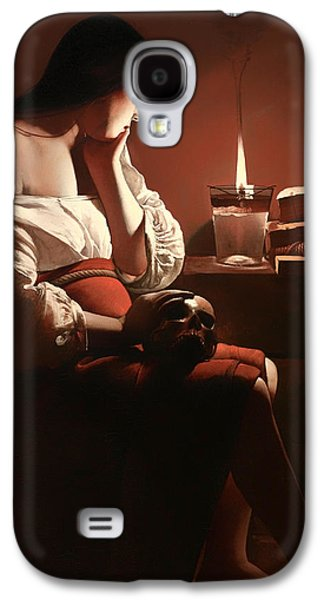 Prostitutes Paintings Galaxy S4 Cases - The Magdalen with the Smoking Flame Galaxy S4 Case by Georges de La Tour