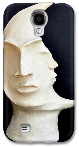 Black Sculptures Galaxy S4 Cases - The Mysterious Moon Galaxy S4 Case by Marianna Mills