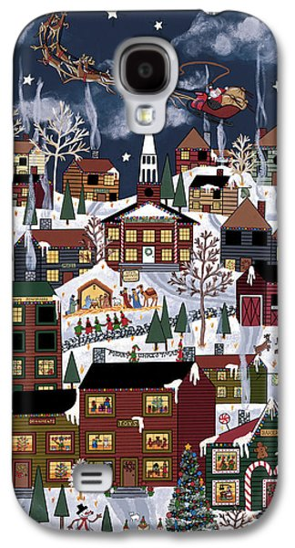 Christmas Eve Paintings Galaxy S4 Cases - The North Pole Galaxy S4 Case by Medana Gabbard