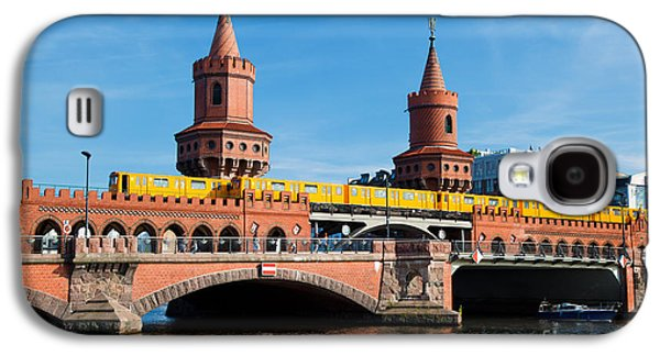 Bahn Galaxy S4 Cases - The Oberbaum Bridge in Berlin Germany Galaxy S4 Case by Michal Bednarek