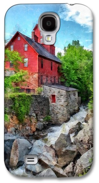 Old Mill Scenes Photographs Galaxy S4 Cases - The Old Red Mill Jericho Vermont Galaxy S4 Case by Edward Fielding