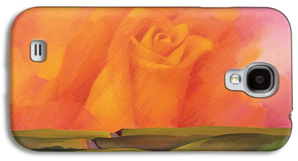Surreal Landscape Galaxy S4 Cases - The Rose, 2001 Oil On Canvas Galaxy S4 Case by Myung-Bo Sim