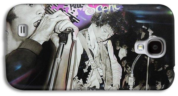 Jimi Hendrix Paintings Galaxy S4 Cases - The Scene Galaxy S4 Case by Christian Chapman Art