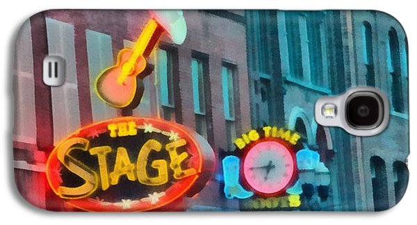Nashville Tennessee Paintings Galaxy S4 Cases - The Stage On Broadway Galaxy S4 Case by Dan Sproul