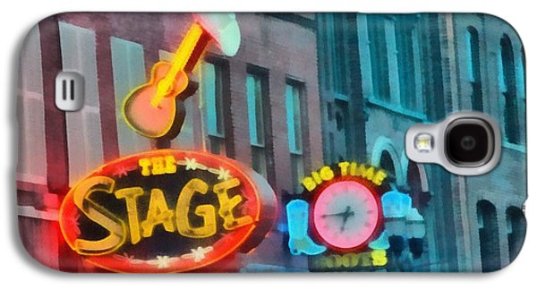 Nashville Paintings Galaxy S4 Cases - The Stage On Broadway Galaxy S4 Case by Dan Sproul