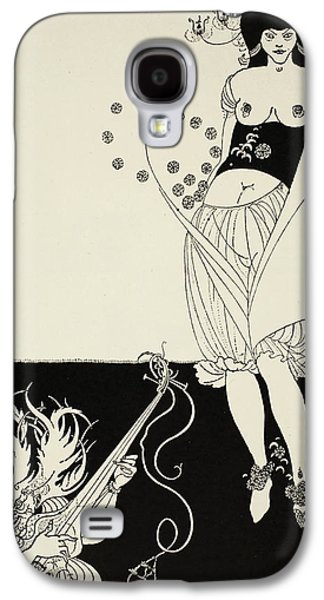 Playing Drawings Galaxy S4 Cases - The Stomach Dance Galaxy S4 Case by Aubrey Beardsley