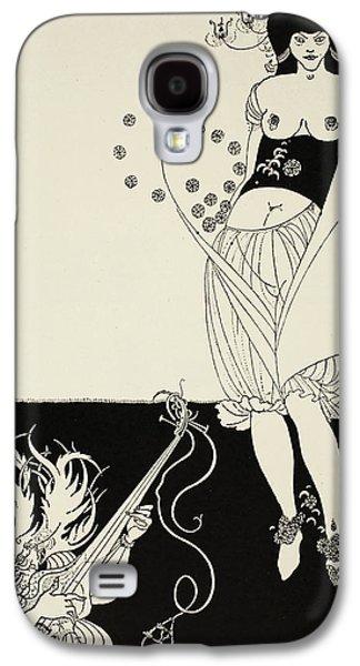 Illustrator Galaxy S4 Cases - The Stomach Dance Galaxy S4 Case by Aubrey Beardsley