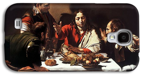 Caravaggio Galaxy S4 Cases - The Supper at Emmaus  Galaxy S4 Case by Celestial Images