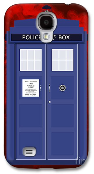 Vertical Digital Art Galaxy S4 Cases - The Tardis Galaxy S4 Case by Nishanth Gopinathan