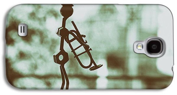 Music Sculptures Galaxy S4 Cases - The Trumpet Player Galaxy S4 Case by Mountain Dreams