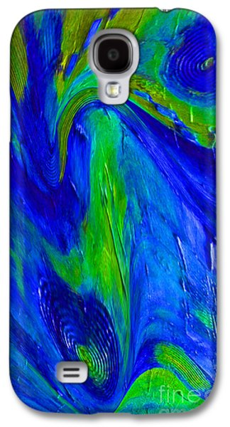 Blue Abstracts Ceramics Galaxy S4 Cases - The Way Galaxy S4 Case by Gabriele Mueller
