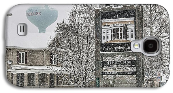 The Whitehouse Inn Sign 7034 Galaxy S4 Case by Jack Schultz