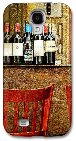 Bottle Of Wine Galaxy S4 Cases - The Wine Bar Galaxy S4 Case by Diana Angstadt