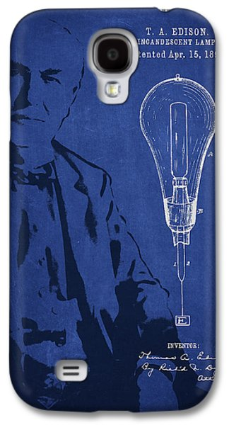 Edison Galaxy S4 Cases - Thomas Edison Incandescent Lamp Patent Drawing From 1890 Galaxy S4 Case by Aged Pixel