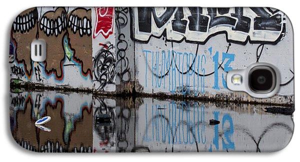 Urban Photographs Galaxy S4 Cases - Three Skulls Graffiti Galaxy S4 Case by Carol Leigh