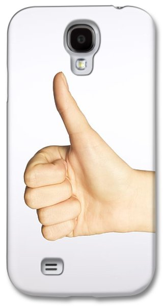 Positive Attitude Galaxy S4 Cases - Thumbs Up Galaxy S4 Case by Alan Marsh