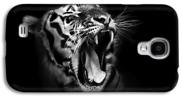 Growling Galaxy S4 Cases - Tigers Roar Galaxy S4 Case by Brigitte Werner