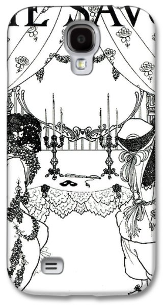 Title Page From The Savoy Galaxy S4 Case by Aubrey Beardsley