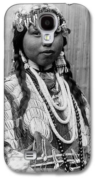 Braids Galaxy S4 Cases - Tlakluit Indian woman circa 1910 Galaxy S4 Case by Aged Pixel