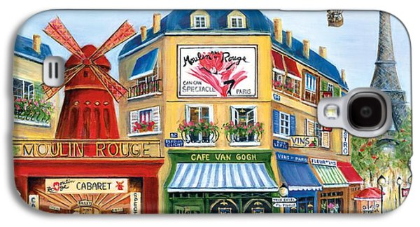 Wine Scene Galaxy S4 Cases - To Paris With Love II Galaxy S4 Case by Marilyn Dunlap