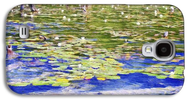 Lilly Pad Galaxy S4 Cases - Torch River Water Lilies Galaxy S4 Case by Michelle Calkins