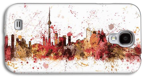 Toronto Galaxy S4 Cases - Toronto Canada Skyline Galaxy S4 Case by Michael Tompsett