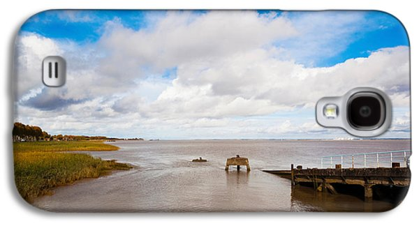 Haut Galaxy S4 Cases - Town Pier On The Gironde River Galaxy S4 Case by Panoramic Images