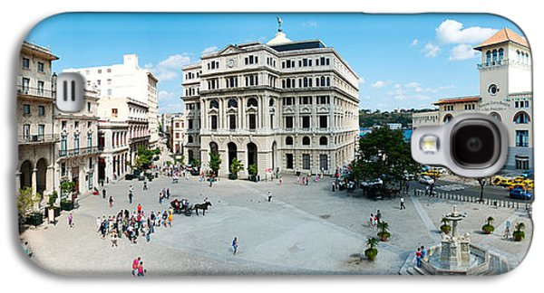 Francis Photographs Galaxy S4 Cases - Town Square, Plaza De San Francisco Galaxy S4 Case by Panoramic Images
