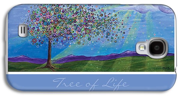 Landscape With Mountains Galaxy S4 Cases - Tree of Life Galaxy S4 Case by Tanielle Childers