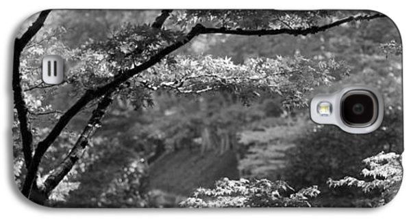 Garden Scene Galaxy S4 Cases - Trees In A Garden, Butchart Gardens Galaxy S4 Case by Panoramic Images