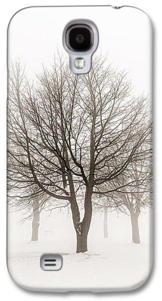 Snow Scene Landscape Galaxy S4 Cases - Trees in winter fog Galaxy S4 Case by Elena Elisseeva