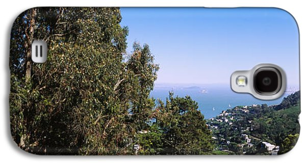 Sausalito Galaxy S4 Cases - Trees On A Hill, Sausalito, San Galaxy S4 Case by Panoramic Images
