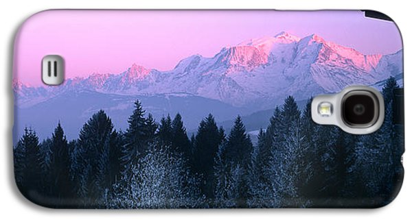 Temperature Galaxy S4 Cases - Trees With Snow Covered Mountains Galaxy S4 Case by Panoramic Images