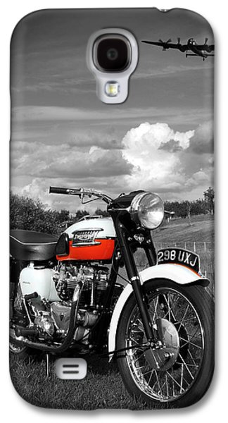 Black And White Galaxy S4 Cases - Triumph Bonneville T120 Galaxy S4 Case by Mark Rogan