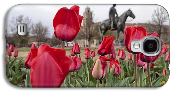 Best Sellers Photographs Galaxy S4 Cases - Tulips at Texas Tech University Galaxy S4 Case by Melany Sarafis