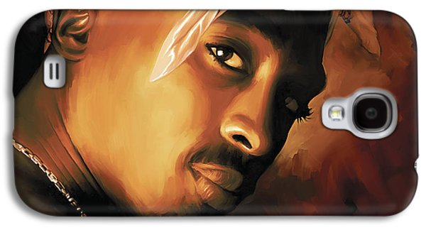 Small Galaxy S4 Cases - Tupac Shakur Galaxy S4 Case by Sheraz A
