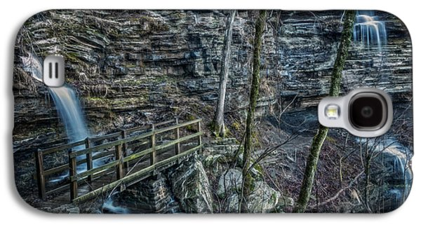 Waterscape Galaxy S4 Cases - Twin Falls Galaxy S4 Case by Larry McMahon