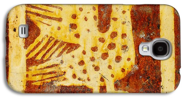 Two Colors Paintings Galaxy S4 Cases - Two-Colored Tile Galaxy S4 Case by Celestial Images