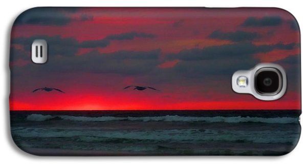 Topsail Galaxy S4 Cases - Two Ship Galaxy S4 Case by JC Findley