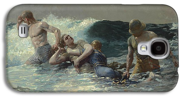Undertow Paintings Galaxy S4 Cases - Undertow Galaxy S4 Case by Winslow Homer