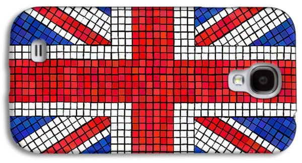 Panel Galaxy S4 Cases - Union Jack mosaic Galaxy S4 Case by Jane Rix
