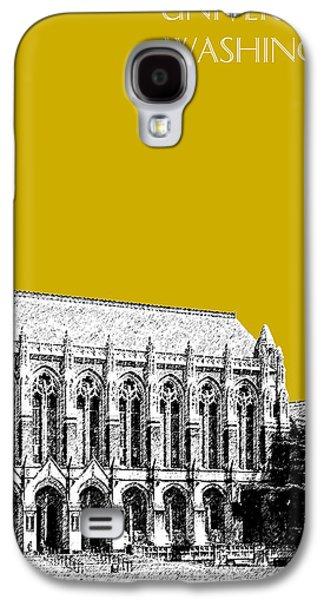 Husky Galaxy S4 Cases - University of Washington - Suzzallo Library - Gold Galaxy S4 Case by DB Artist