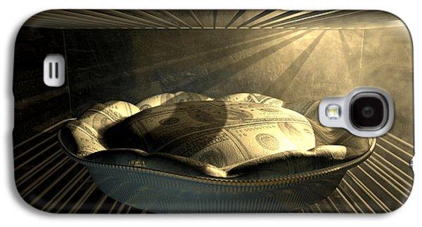 Appliance Galaxy S4 Cases - US Dollar Money Pie Baking In The Oven Galaxy S4 Case by Allan Swart