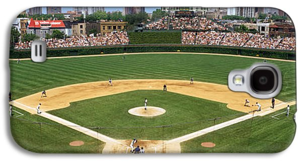 Wrigley Field Galaxy S4 Cases - Usa, Illinois, Chicago, Cubs, Baseball Galaxy S4 Case by Panoramic Images