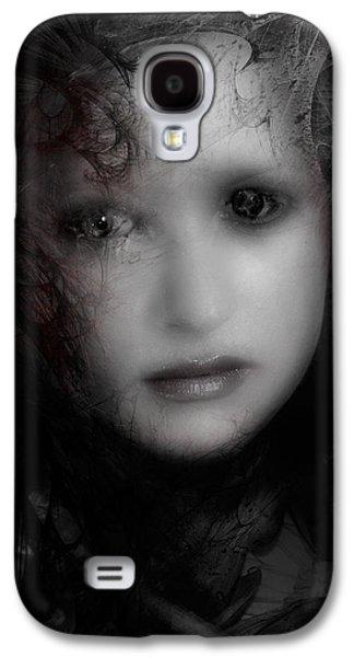 Creepy Digital Art Galaxy S4 Cases - Utolso lehelete Galaxy S4 Case by David Fox